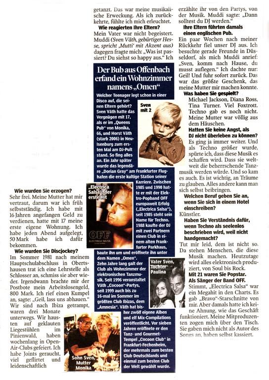 Artikel Bild am Sonntag, 31.Juli 2011 (Ausschnitt)