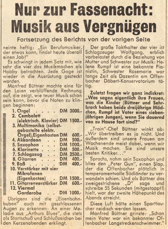 Offenbach Post, 1. Februar 1964, Seite 2 (Detail)