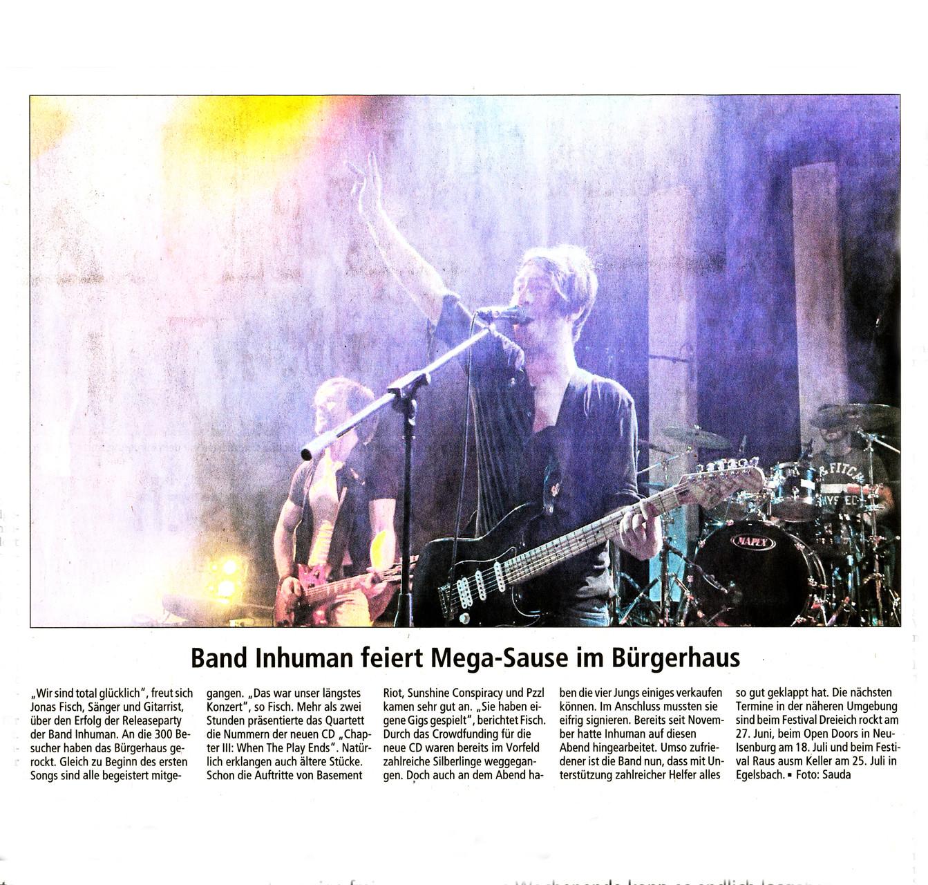 Offenbach Post, 13. Mai 2015
