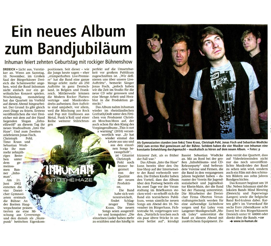 Offenbach Post, 30. Oktober 2012