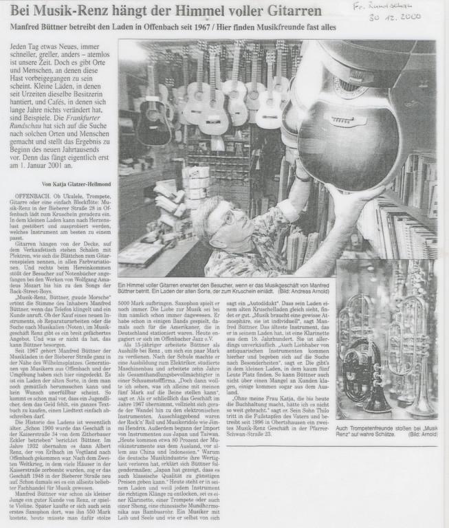 Frankfurter Rundschau, 30.12.2000