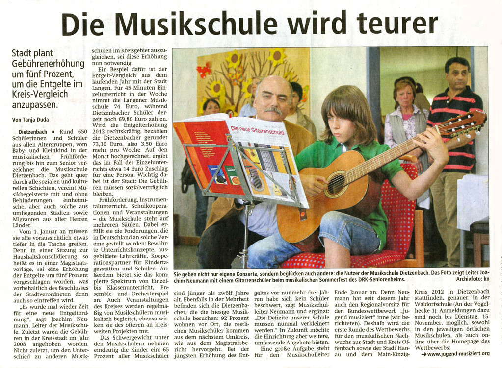 Offenbach Post, 20. Oktober 2011