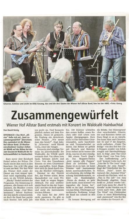 Offenbach Post, 3. Juli 2012