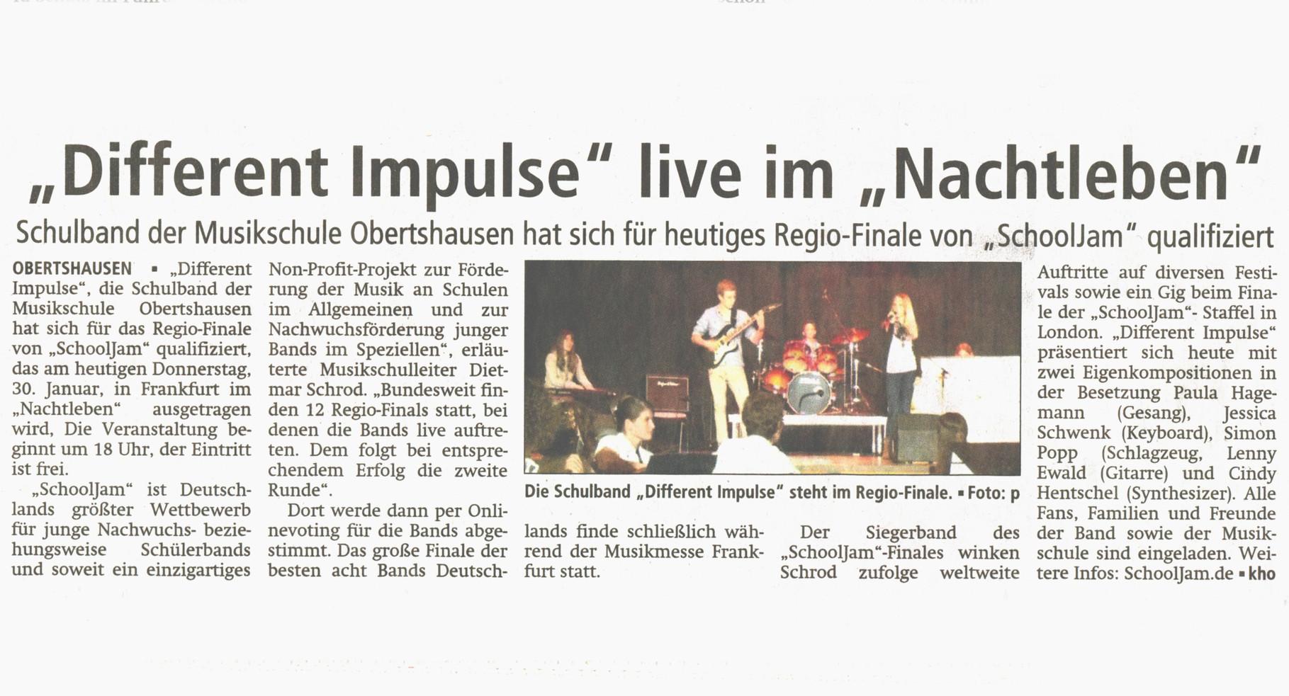 Offenbach Post, 30. Januar 2014