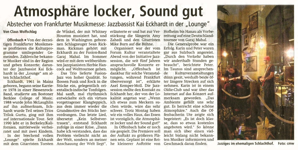 Artikel Offenbach Post, 6. April 2011