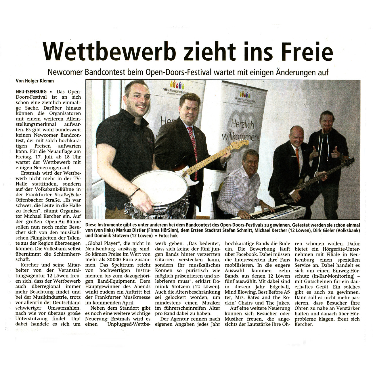 Offenbach Post, 25. Juni 2015