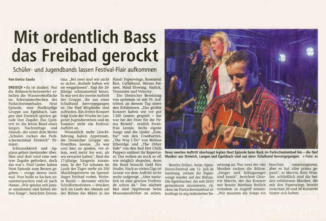 Offenbach Post, 2. Juli 2013