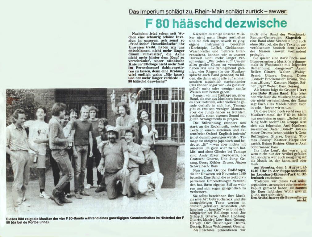 Offenbach Post, 29. Juli 1984