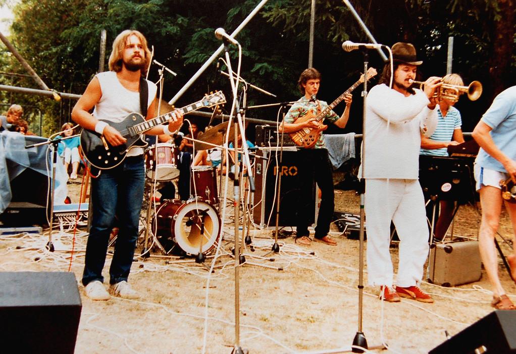 Suupenschüssel 1983, v.l.n.r.: Thomas Hegner, Peter Maith, Peter Koch, Frank Spannaus