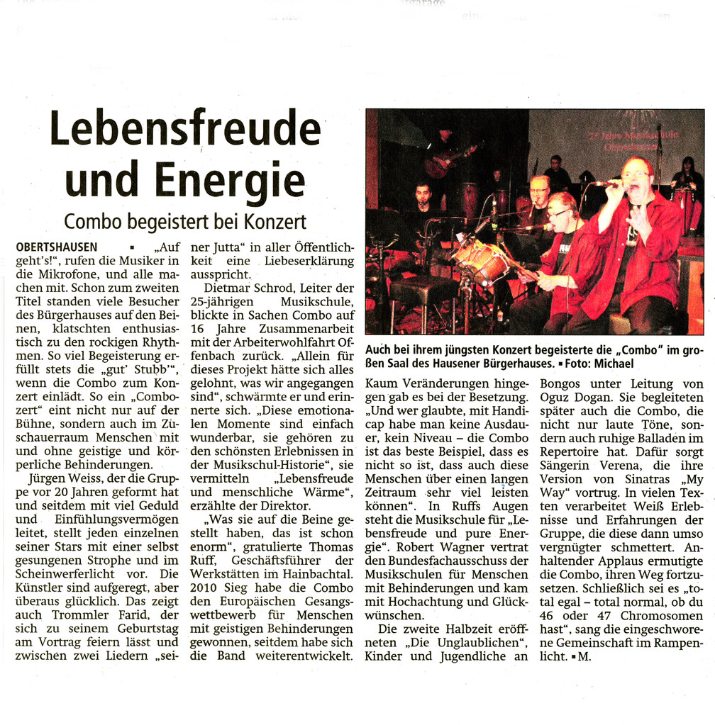 Offenbach Post, 30. November 2013