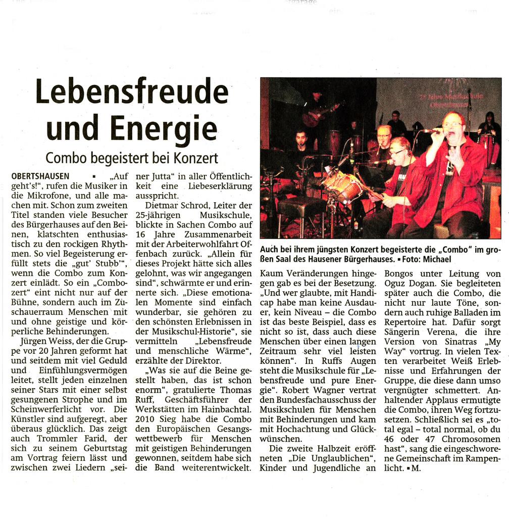 Offenbach Post, 30. November 2013