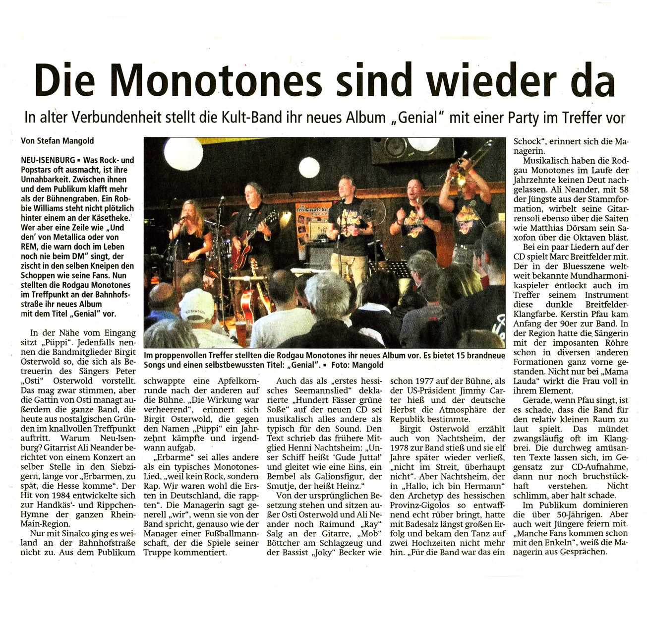 Offenbach Post, 30. September 2015