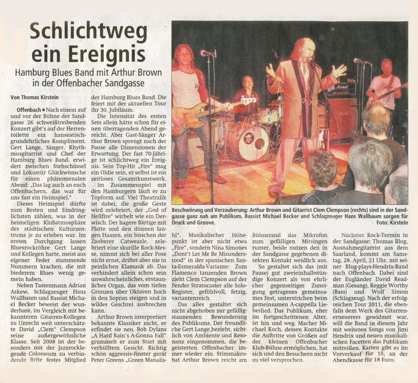 Offenbach Post, 23. April 2012