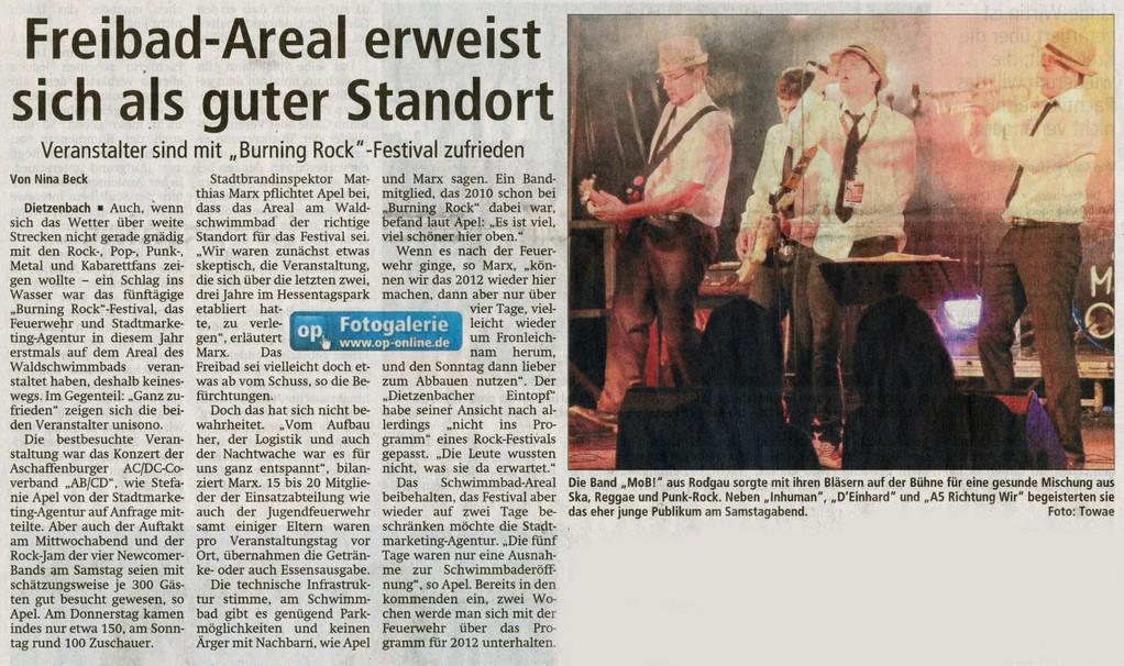 Offenbach Post, 28. Juni 2011
