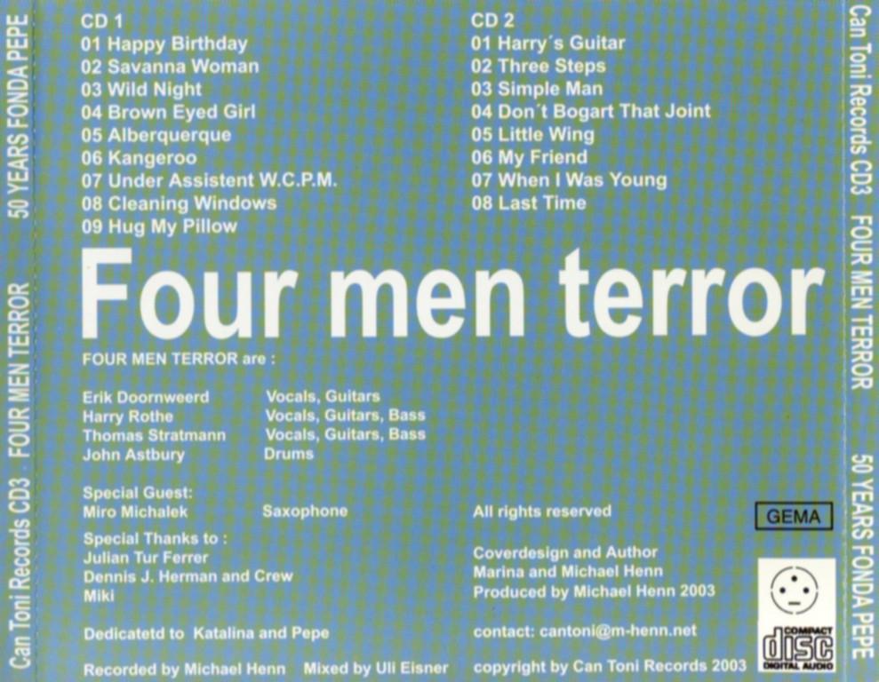 CD-Cover Rückseite