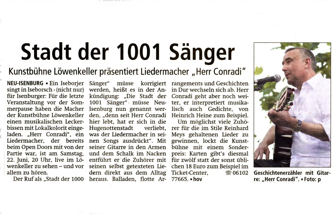 Offenbach Post, 10. Juni 2013