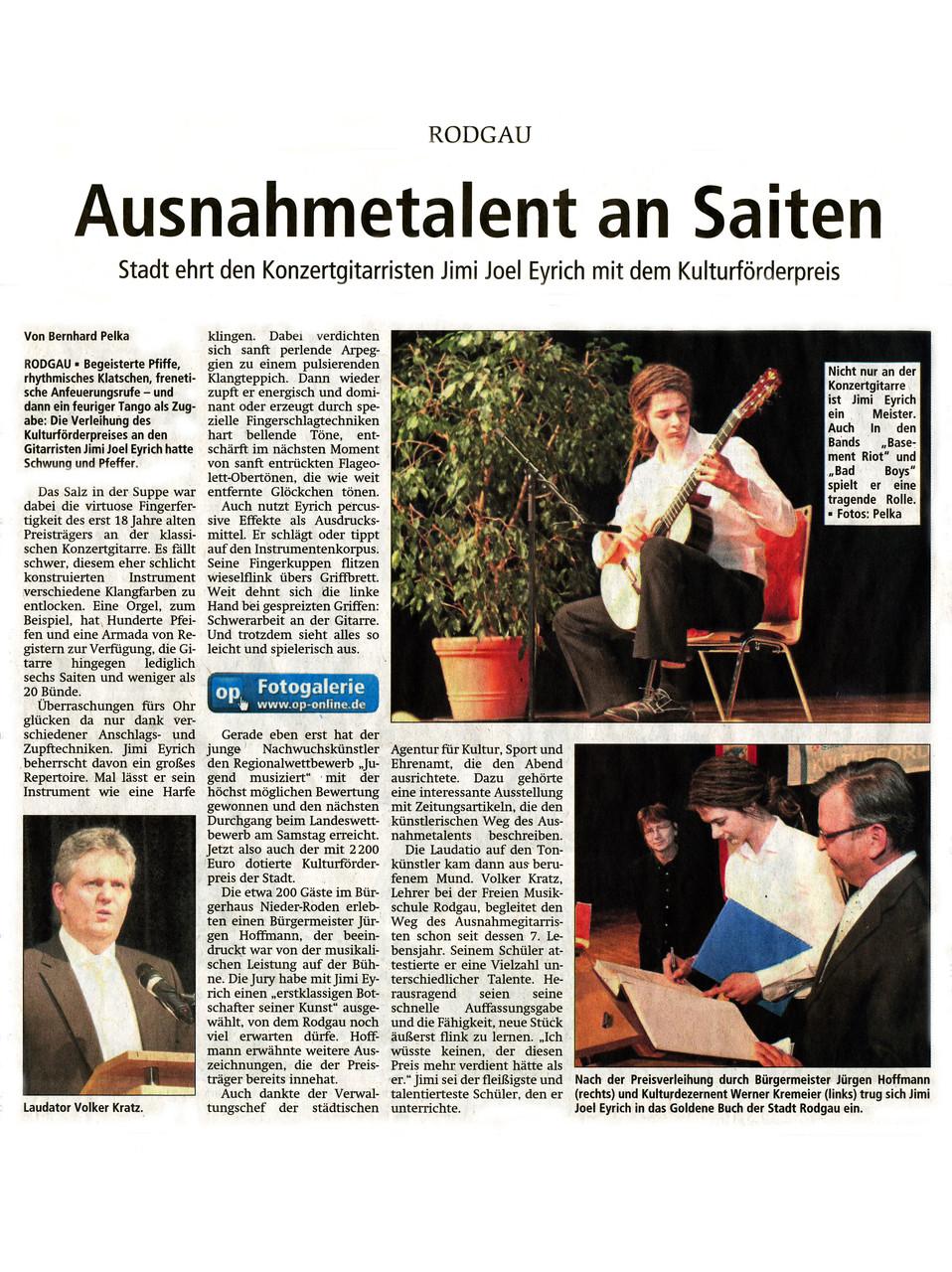 Offenbach Post, 27. März 2015