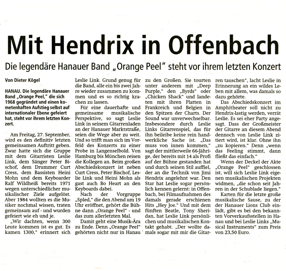 Offenbach Post, 14. September 2013 (Text)