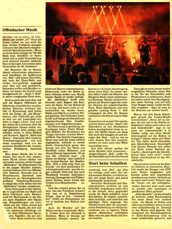 Artikel Offenbach Post, 15. Juni 1991, Teil 2