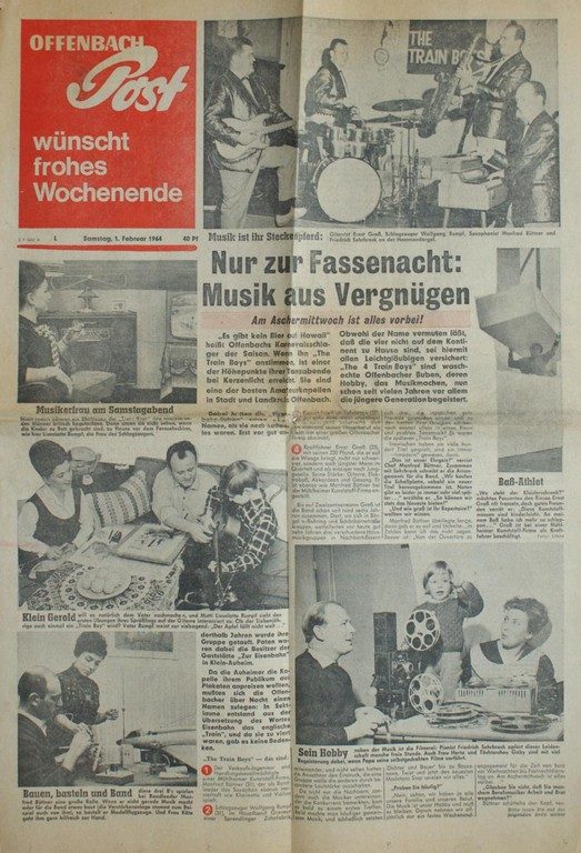 Titelseite Offenbach Post, 1. Februar 1964