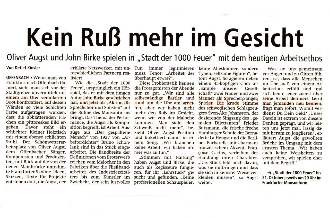 Offenbach Post, 19. Oktober 2013