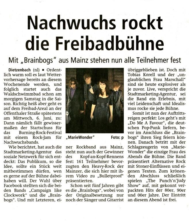 Offenbach Post, 27. April 2012