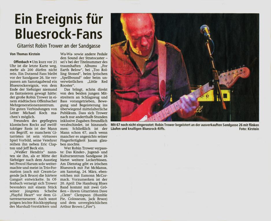 Offenbach Post, 19. März 2012