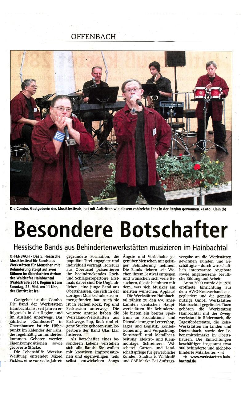 Offenbach Post, 22. Mai 2014