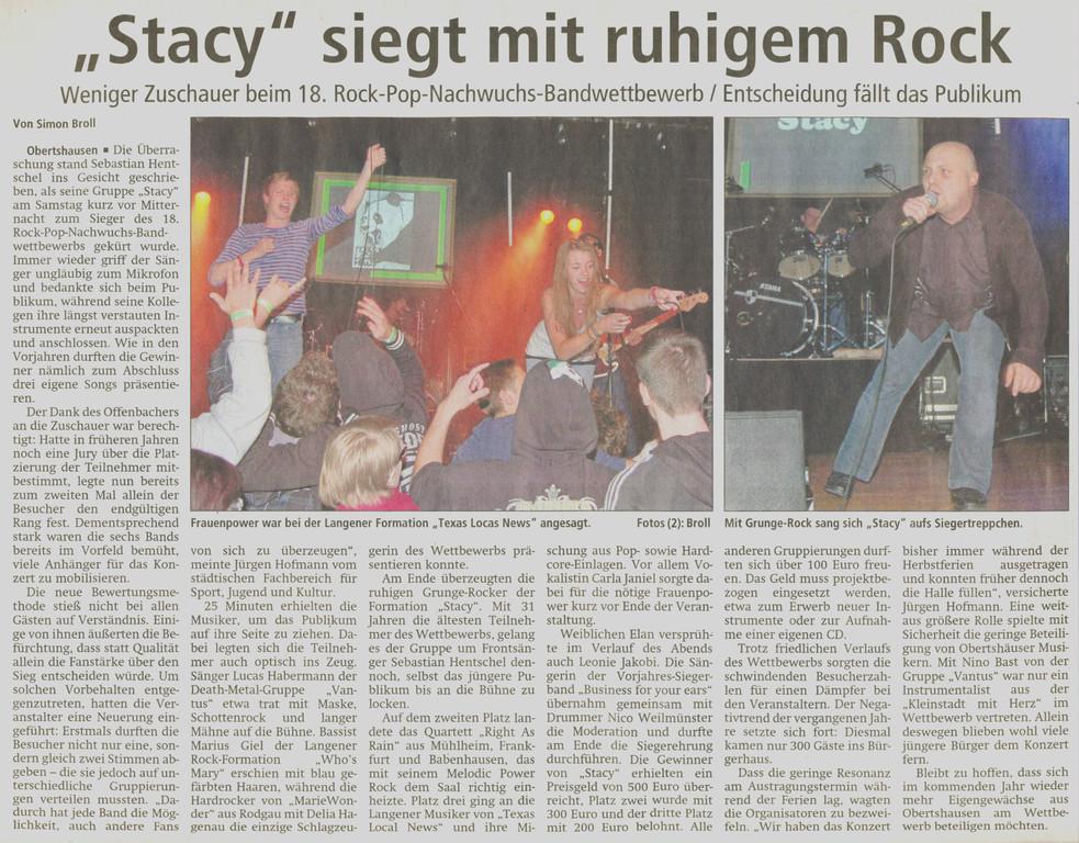 Offenbach Post, 17. Oktober 2011