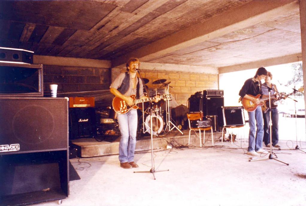 1981 beim Gießkännche-Fest in Bürgel (bei de Worzelfresser)