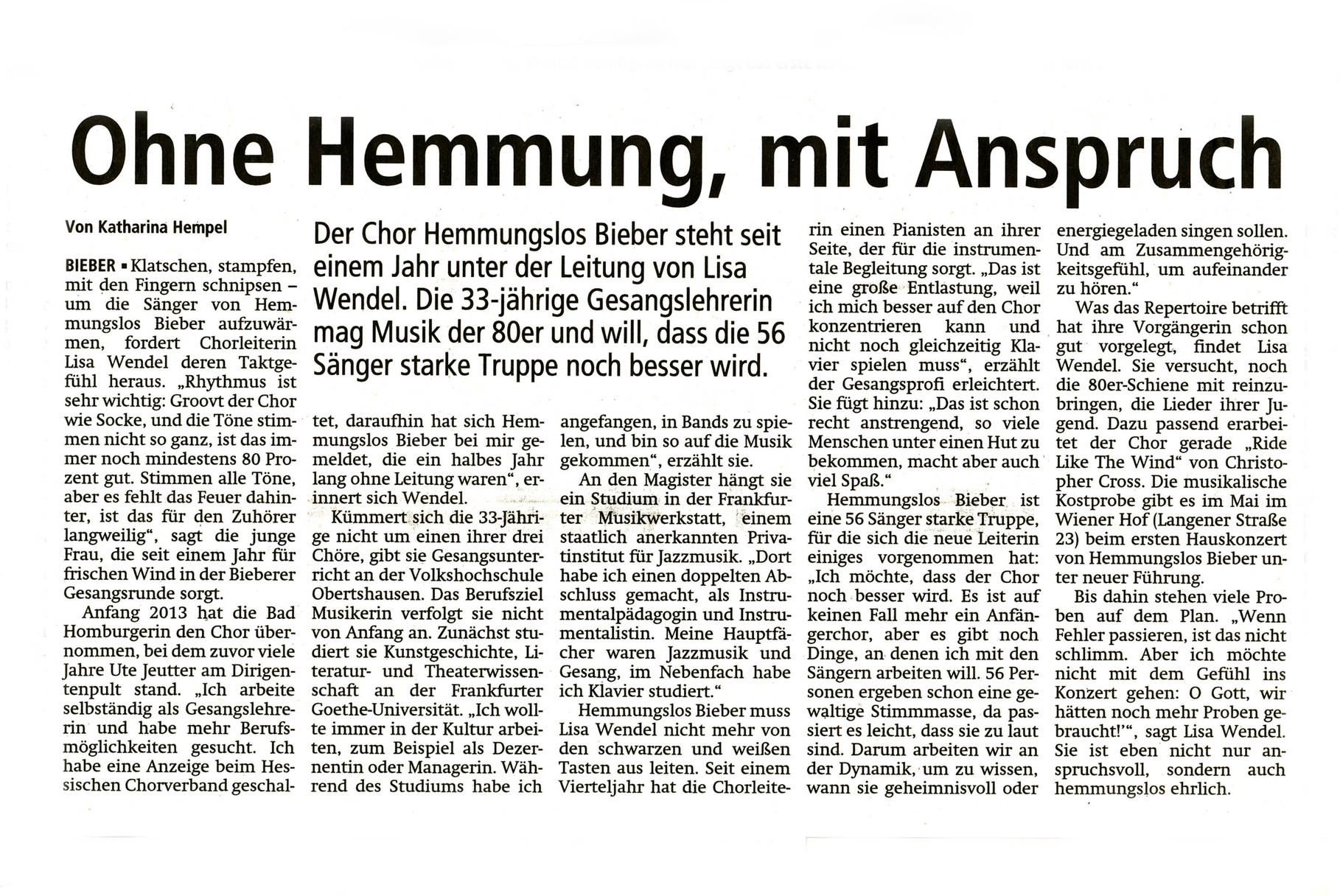 Offenbach Post 5. Februar 2014
