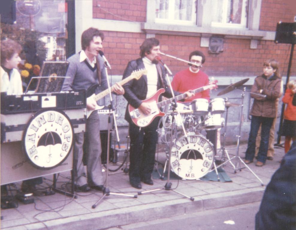 Die Raindrops bei der Eröffnung des Musikladens Reußenzehn 1978