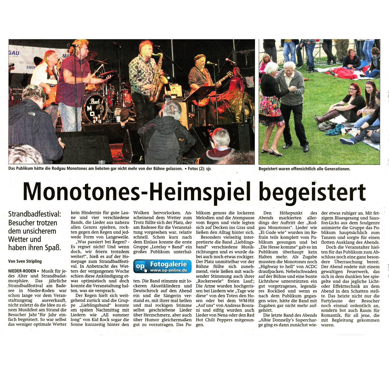 Offenbach Post, 18. August 2014