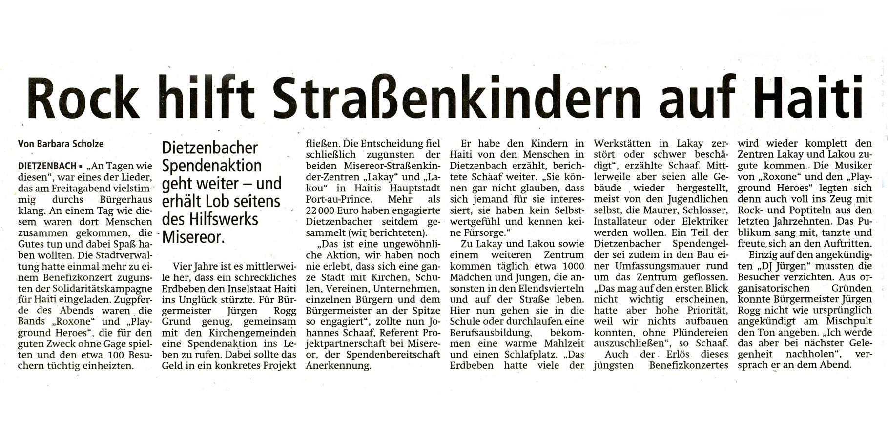 Offenbach Post, 24. Februar 2014