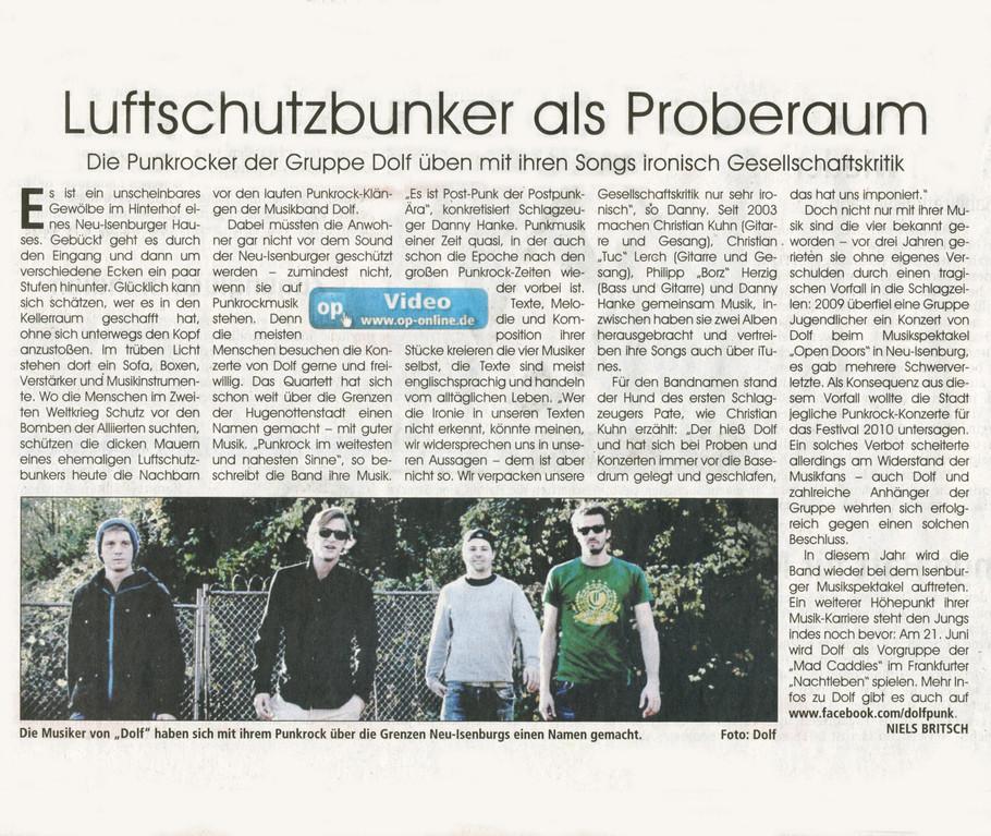 Offenbach Post, 1. Juni 2012