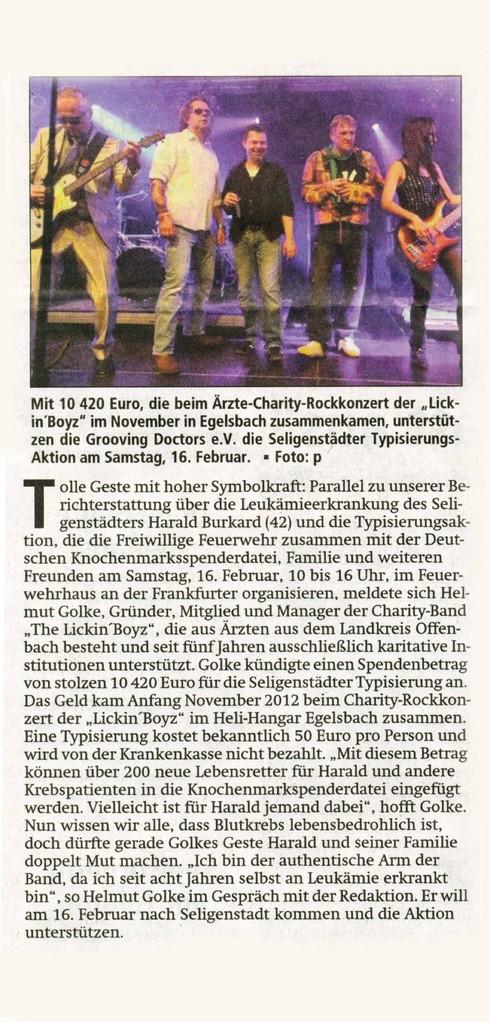 Offenbach Post, 19. Januar 2013