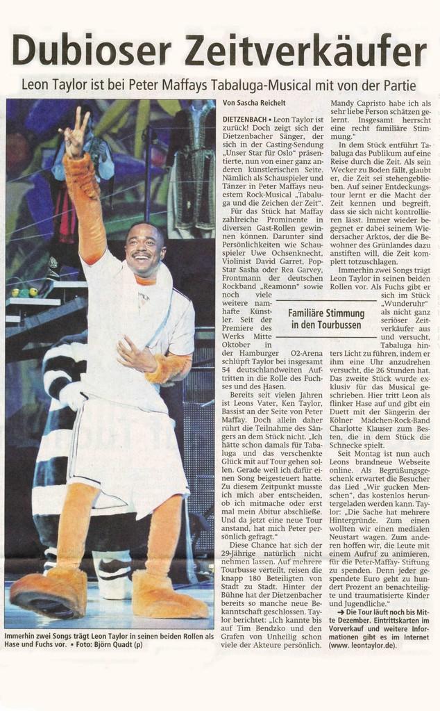 Offenbach Post, 27. Oktober 2012