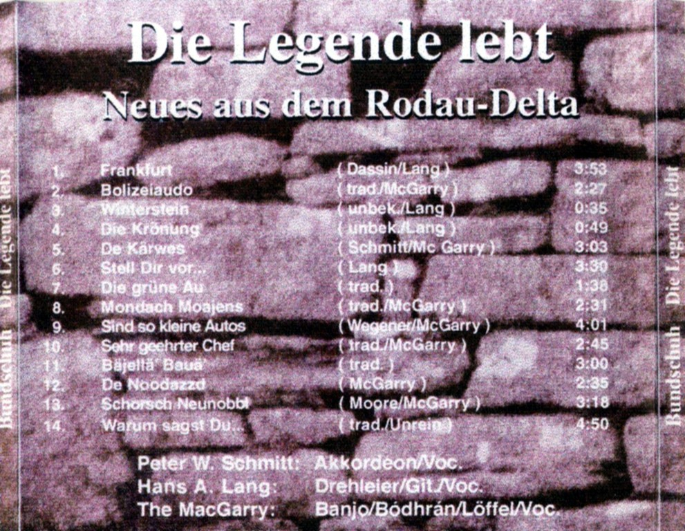 "CD ""Die Legende lebt"" - Backcover"
