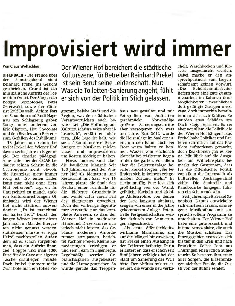 Offenbach Post, 7. Oktober 2013