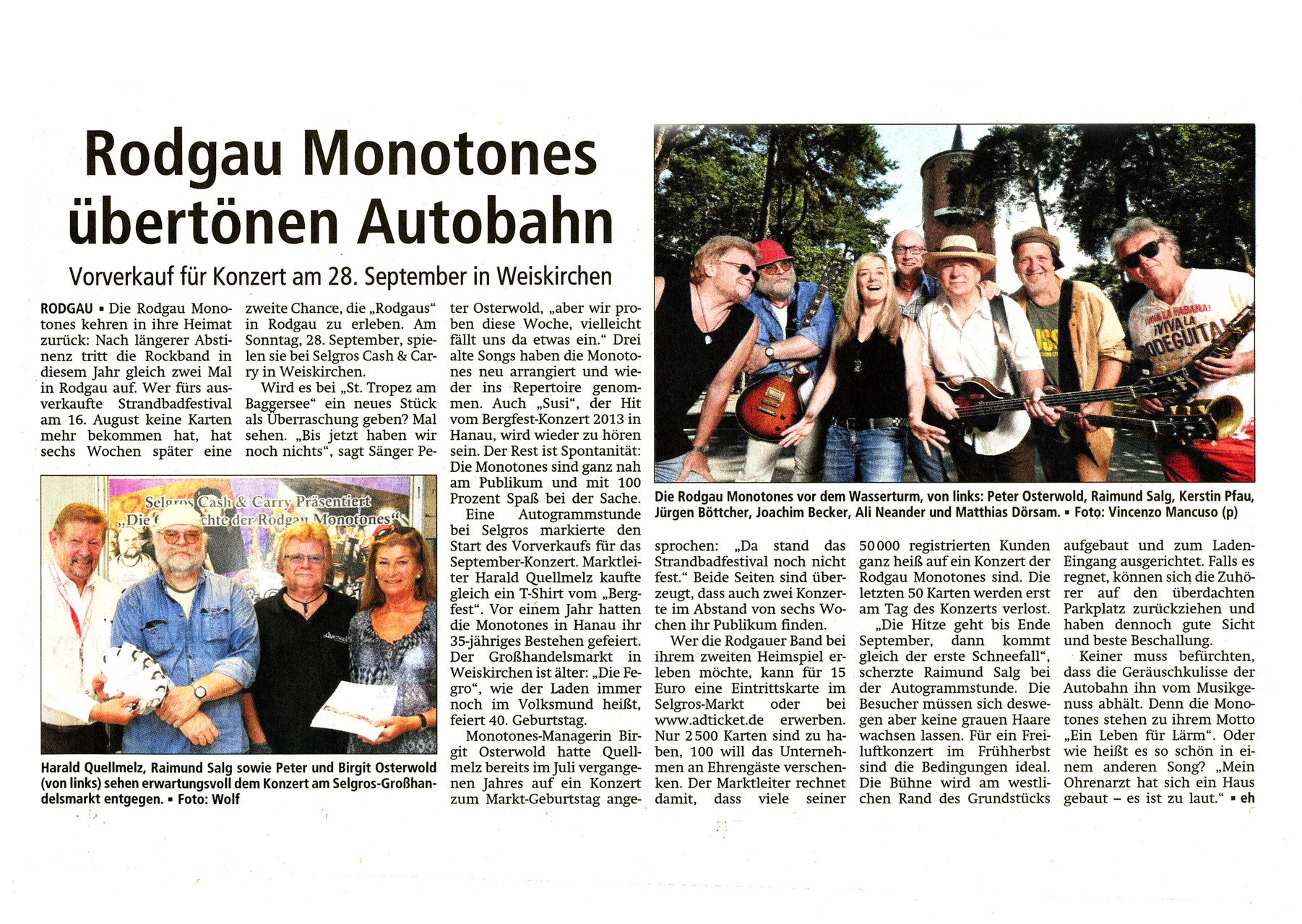 Offenbach Post, 7. August 2014