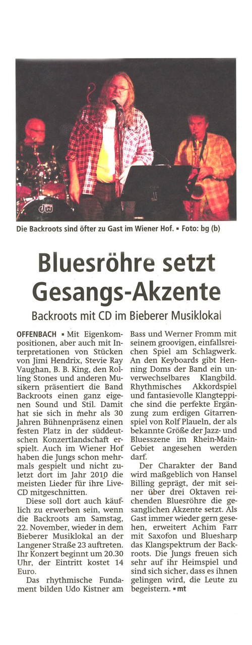 Offenbach Post, 20. November 2014