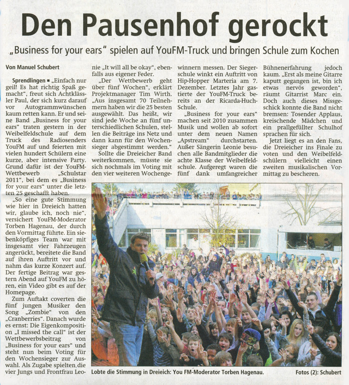 Offenbach Post, 5. November 2011