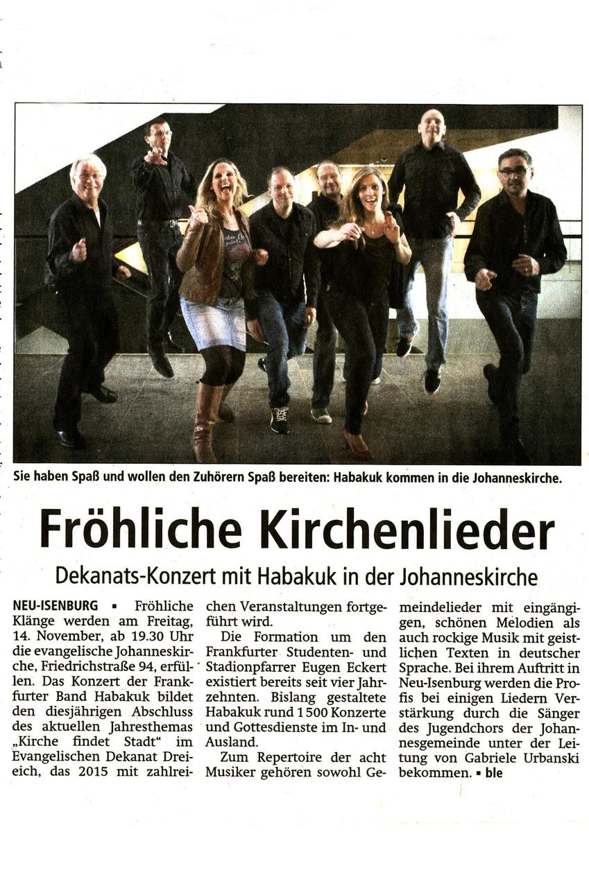Offenbach Post, 29. Oktober 2014