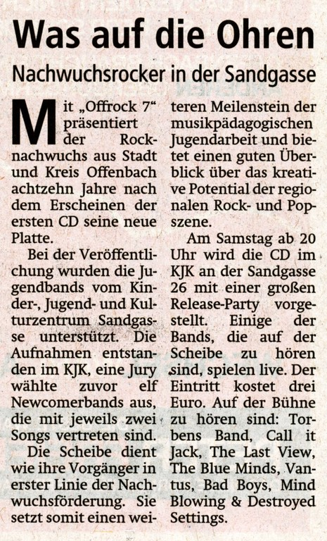 Offenbach Post, 16. September 2011