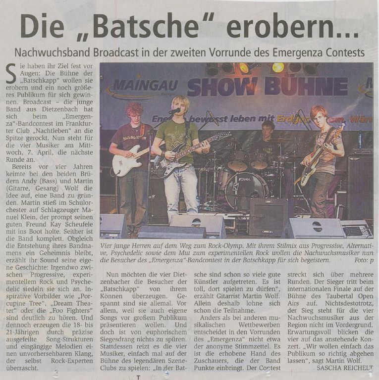 Offenbach Post, 2. April 2010