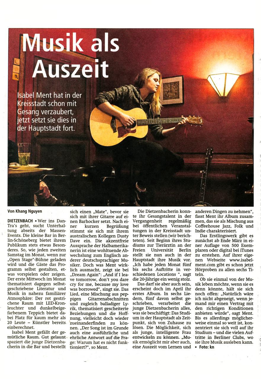 Offenbach Post, 14. März 2015