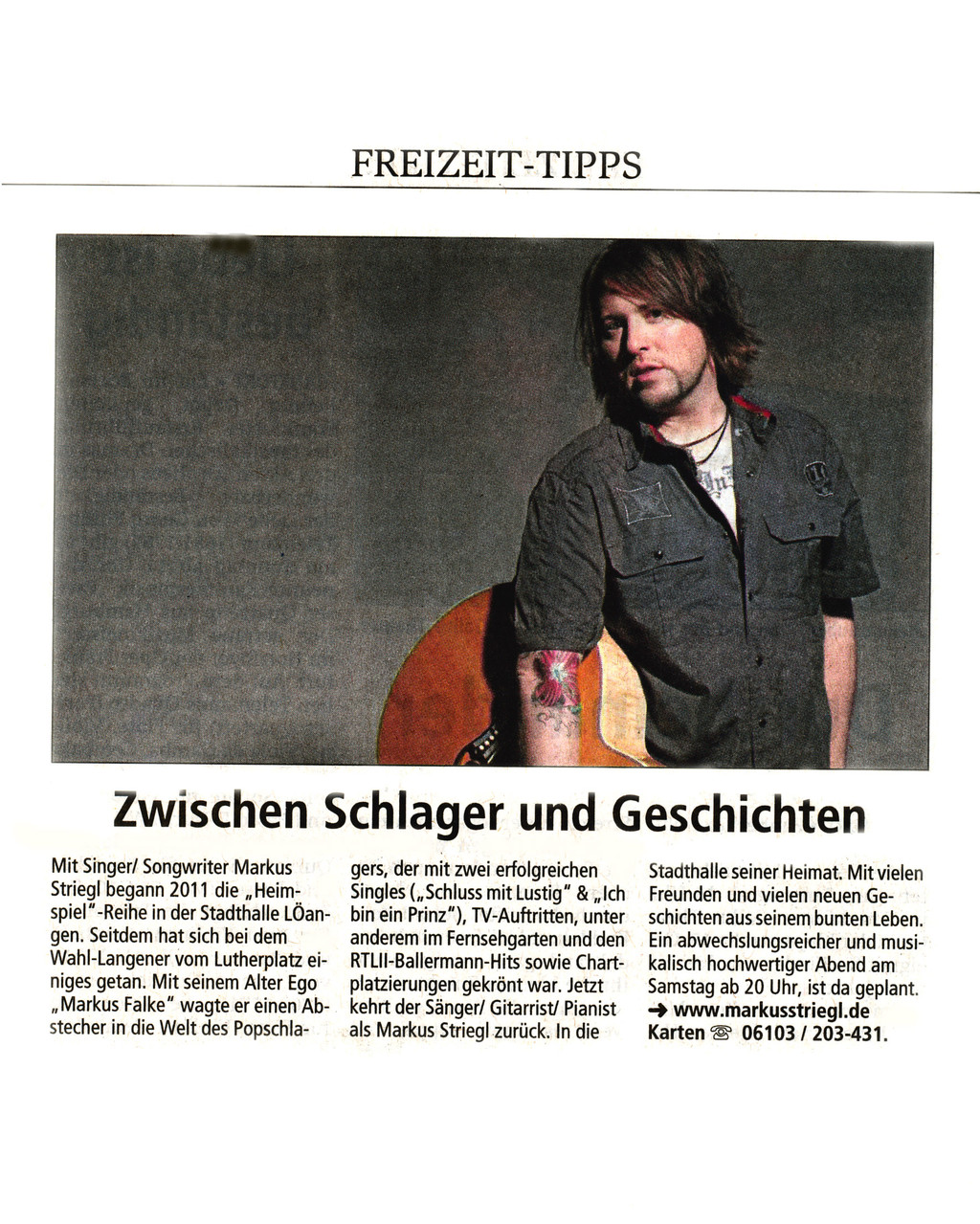 Offenbach Post, 31. Mai 2014