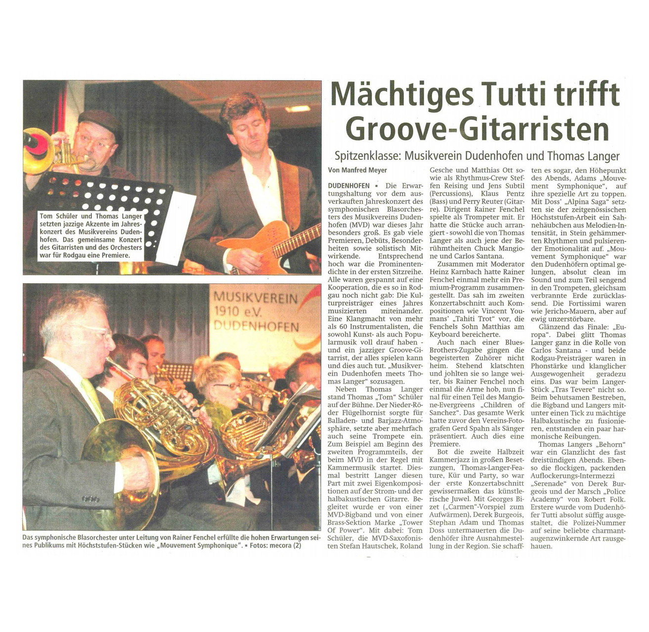Offenbach Post, 25. November 2014