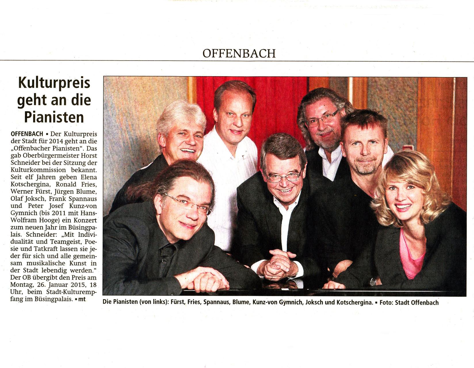 Offenbach Post, 8. November 2014