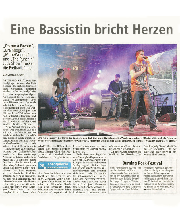 Offenbach Post, 9. Juni 2012